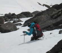 creeping down the ridge