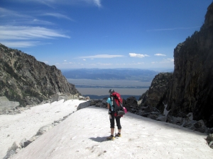 Hiking up to the Teton Glacier