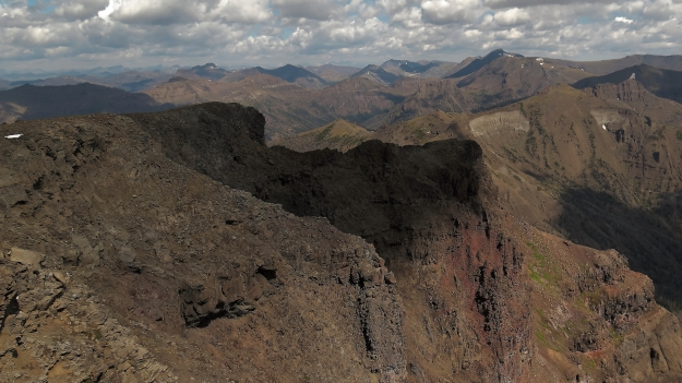 looking NW from the summit -- Sunlight Peak in the distance
